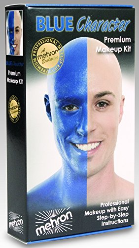 [Blue Man Group Face Paint] (The Blue Man Group Costume)