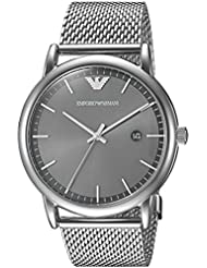 Emporio Armani Mens Dress Quartz Stainless Steel Casual Watch, Color:Silver-Toned (Model: AR11069)