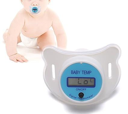 ZEARO Termómetro Chupete de Digital Termómetro infantil para Bebé ...