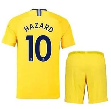 dff280729c6 LISIMKE Soccer Team Away Soccer 2018/19 Chelsea Hazard #10 Kid Youth  Replica Jersey