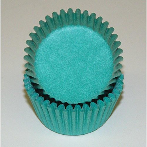 500pc Mini Greaseproof Baking Cup Teal]()