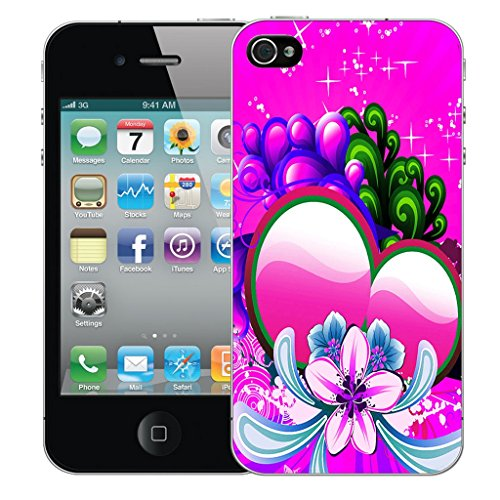 Mobile Case Mate iPhone 5 Silicone Coque couverture case cover Pare-chocs + STYLET - Pink Sweetheart pattern (SILICON)