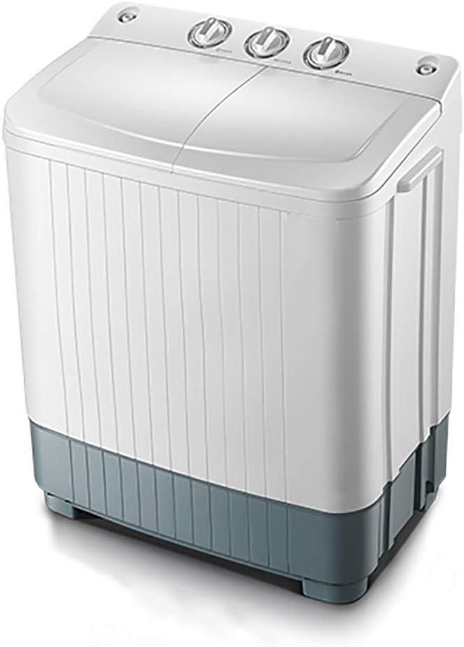 Kücheks Lavadora Tubo Doble Compacto 6 kg / 9 kg Lavado + 4 kg / 6 kg Secado Lavadora portátil Secadora por centrifugación (Dos Estilos para Elegir)