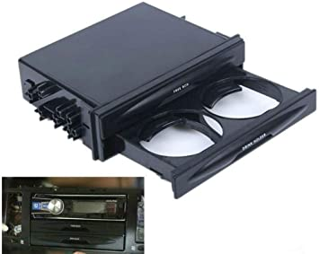 Sunshine Fly Universal Auto Doble DIN radio Funda Soporte Para Bebidas Caja Kit para la mayoría de Auto Tamaño ...