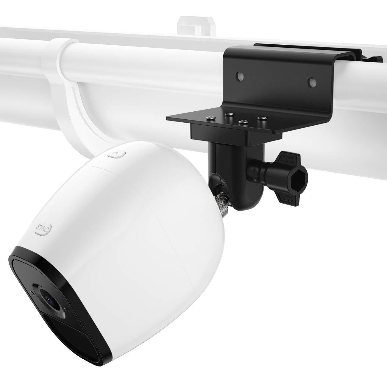 2 Pack, White Arlo GO,Arlo HD Arlo Pro 2 Arlo Light and Solar Panel-Weatherproof-Arlo Accessories Outdoor Mount Arlo Ultra HOLACA Gutter Mount for Arlo Pro