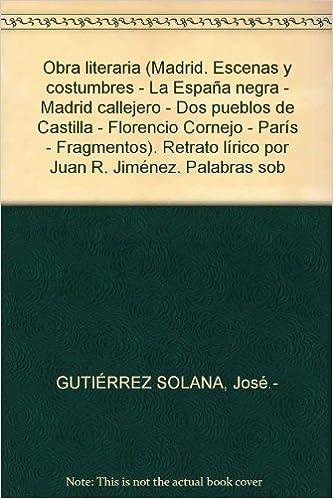 Obra literaria Madrid. Escenas y costumbres - La España negra ...