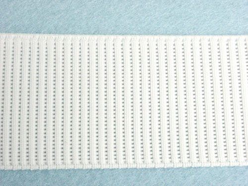 "Wholesale Ribbed Woven Non-Roll Elastic - White 2"" 36yds"