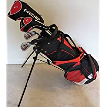 Junior Golf Clubs Set with Stand Bag for Kids Ages 5-8 Orange Color Premium Jr. Boys or Girls Professional Quality