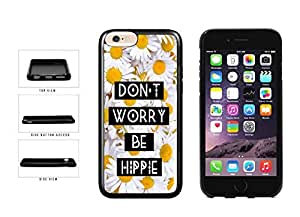 Don't Worry Be Hippie TPU RUBBER Phone Case Back Cover Apple iphone 4 4s inches screen) includes diy case Cloth and Warranty Label