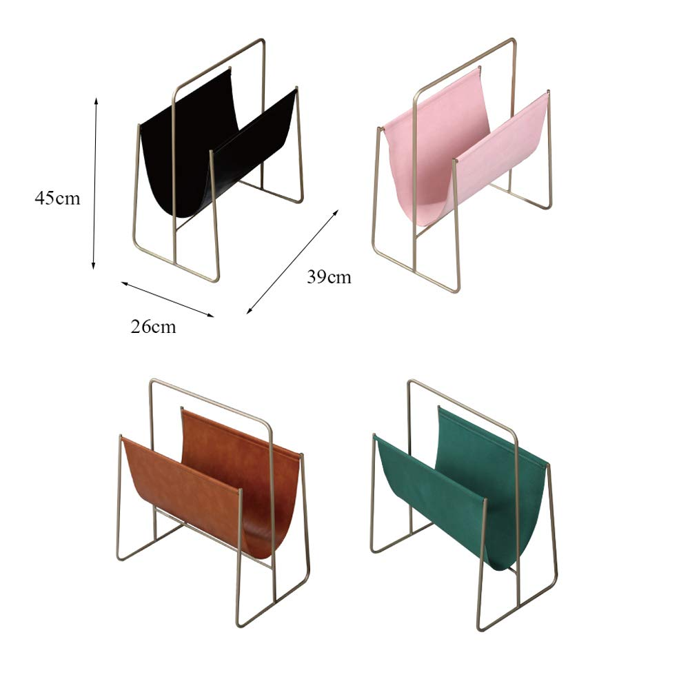 L&QQ Magazine Holder, Elegant PU Leather Magazine Organiser for Bathrooms or Offices - Suitable for Books, Tablets, and Newspapers,Brown by L&QQ (Image #5)