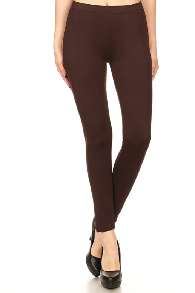 ShoSho Peachy Silky Feeling Super Soft and Stretchy Poly Brushed Leggings Regular and Plus Size Leggings Pants SG