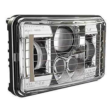 JW Speaker Model 8800 Evo2 Single Low Beam LED Headlight with Chrome Bezel and Heated Lens