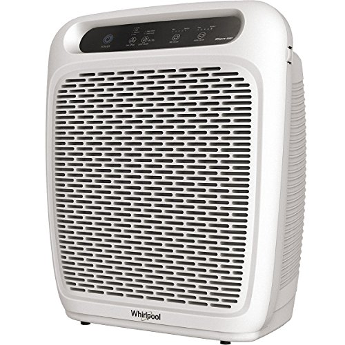 Whirlpool Whispure Air Purifier - WP1000 (Upgrade Ver. of WP500) 490 sq ft TRUE HEPA Filter 8171434K 1183054K, 4-Speed Plus Turbo, Removes Pollen, Pet Dander, Smoke, Odors (WP1000P-Pearl White) by Whirlpool