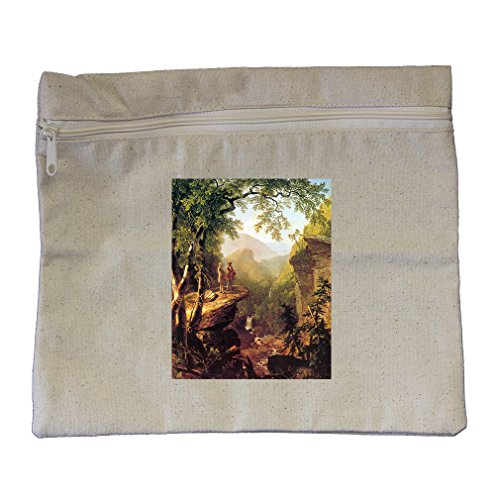 Discount Kindred Spirits (Durand) Canvas Zippered Pouch Makeup Bag for cheap