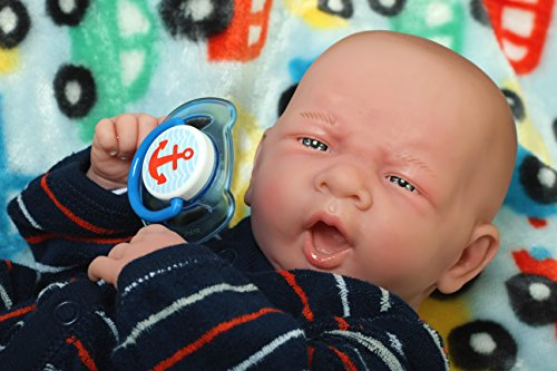 You Are My Cute Baby Boy Ssoooo Innocent 14 Inches Preemie Life Like Reborn Pacifier Doll + Extras Accessories Mueca Vinilo Suave Poupee Souple En Vinyle