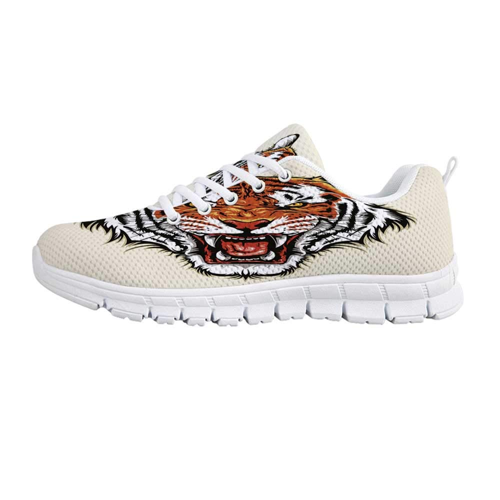 5372f77f34550 Amazon.com | TecBillion Tiger Comfortable Sports Shoes, Angry Ready ...