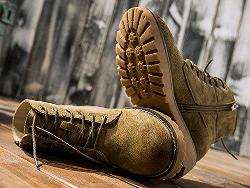 Aisun Lacets Boots boots Confort À Femme Kaki Low qnTqFS7B6