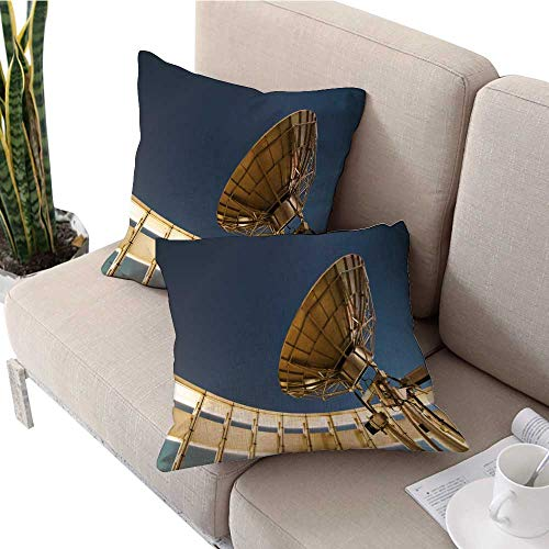 longbuyer Square Euro Sham Cushion Cover Satellite Dish Under a Starry Sky Pillow Covers W 24