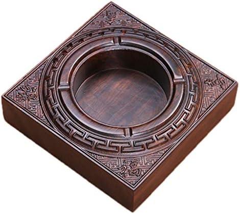 灰皿 , ハイエンドのホームライフレストランギフトに適した創造的なエボニー木彫りフラット灰皿