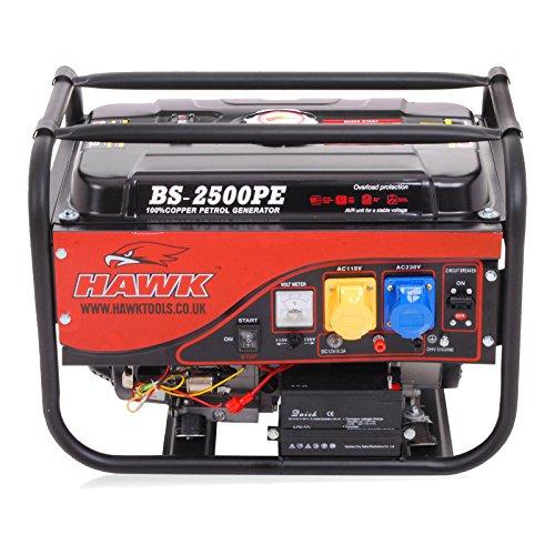 2.5kVa 2.5kW 2500W 6.5Hp 110V 230V Petrol Electric Single Phase Power...