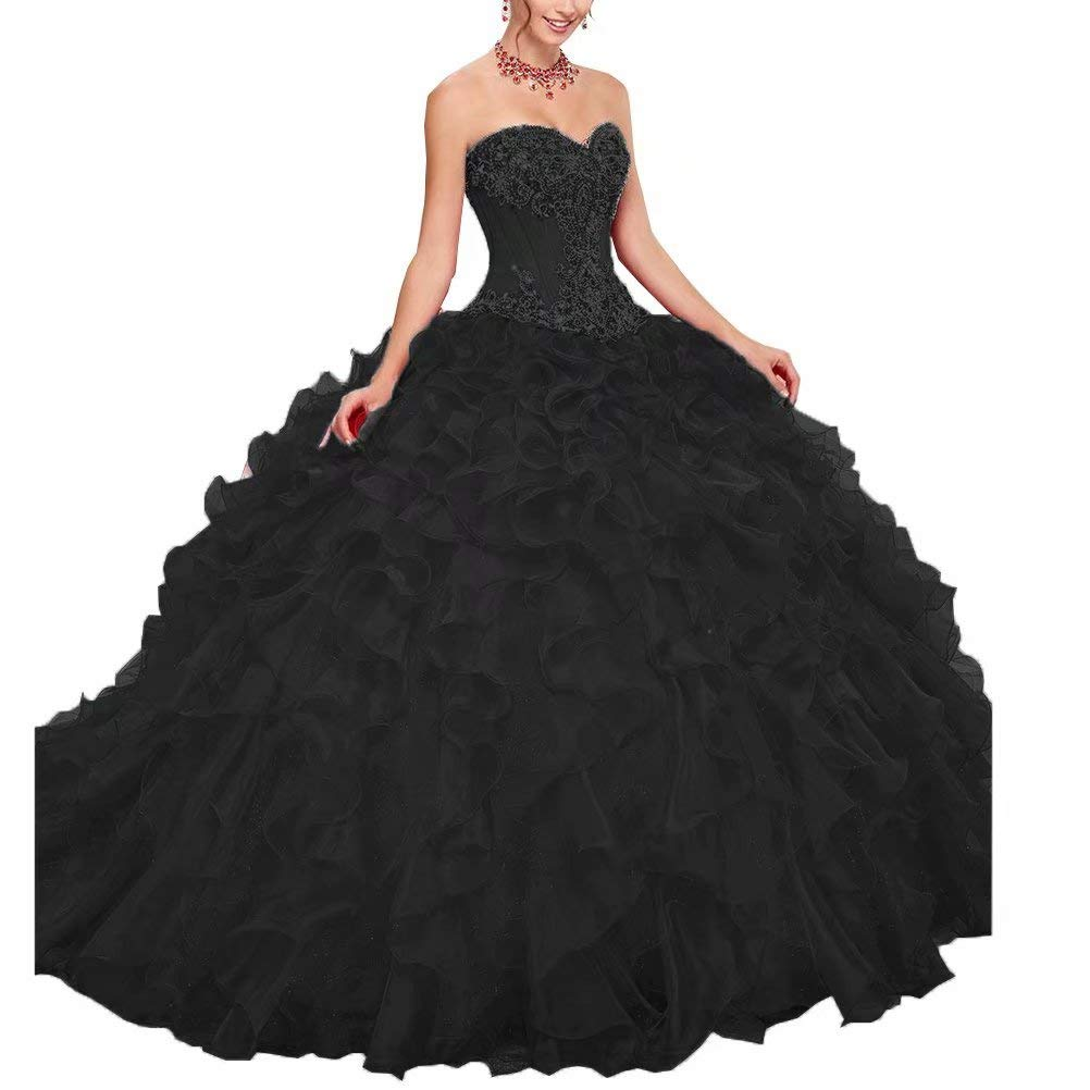 color 10 Unions Women Strapless Sweetheart Ball Gown Dress Crystal Beaded Prom Quinceanera Dresses