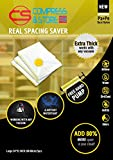 Compress & Store 24 X 32 Inch L- Superior Seals Vacuum Storage Bags (80% More Storage Than Leading Brands) Free Hand Pump For Travel! (5 Pack)