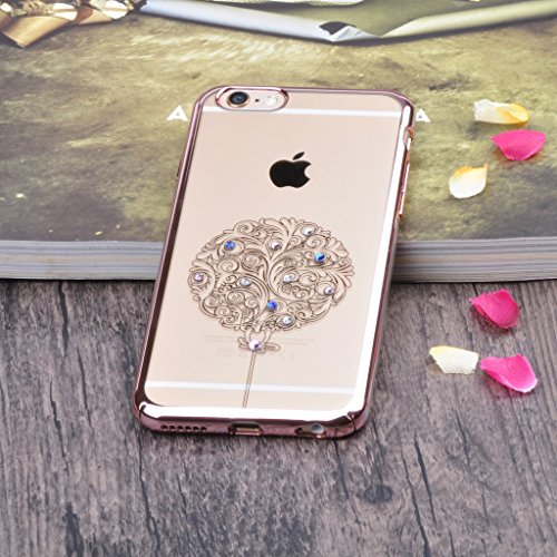 "Infinite U Jewellery Ballon Motif Bling Strass Transparent Souple TPU Gel Case/Coque/Etui de Téléphone Mobile pour iPhone 6/6s 4.7"" Femme"