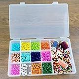 Lonjew 613 Plastic Bead Organizer with Thirteen Different Compartment Plastic Beadwork Storage