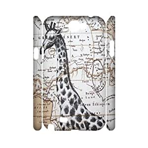 Giraffe Brand New 3D Cover Case for Samsung Galaxy Note 2 N7100,diy case cover ygtg561676