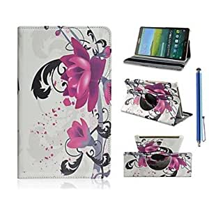 Beauty of The Flower Design PU Leather Full Body Case with Stand and Capacitance Pen for Samsung Galaxy Tab S 8.4 T700