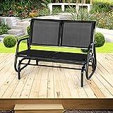 Esright 2 Seats Outdoor Swing Glider Loveseat Chair