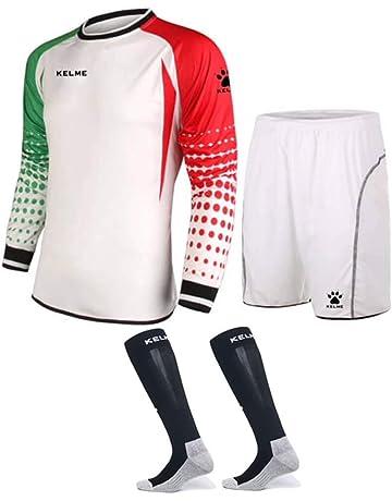 f23e1963df1 Goalkeeper Shirt Uniform Bundle - Includes Jersey, Shorts & Socks -  Protection Pads on Shorts
