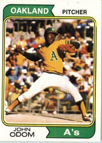 1974 Topps Baseball Card #461 John Odom ()