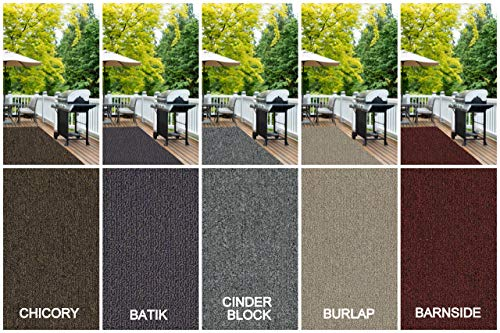 - Durable Indoor/Outdoor Area Rugs, Entry Mats and Runners. Great Solution for Entry Ways, Garages, Decks, Balconies, Patios, Laundry Rooms, etc. Multiple Colors (5' x 8', Cinder Block)
