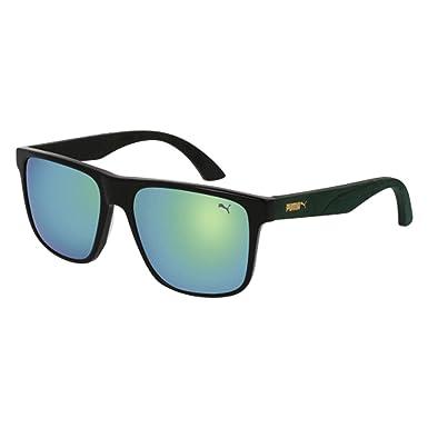Amazon.com: anteojos de sol Puma PU 0104 S- 003 negro/verde ...