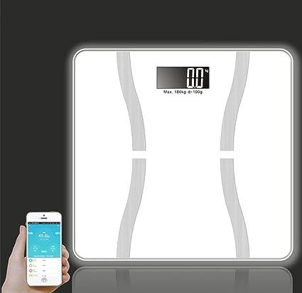 Báscula de baño, Fuqun Digital Inteligente Escala Cuerpo Escala báscula de baño inalámbrico grasa corporal