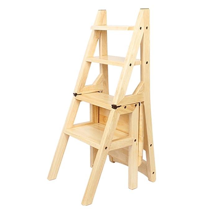 Amazon.com: Taburete de madera, escalones de cama/soporte de ...