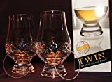 THE GLENCAIRN DIAMOND CUT TWIN PACK GLENCAIRN SCOTCH MALT WHISKY TASTING GLASSES WITH TWO WATCH GLASS COVERS
