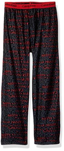 Calvin Klein Little Boys' CK Logo Waistband Sleep Pant, Fireside, 5/6