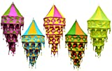 5pcs-25pcs Indian Multi Color Hanging Lamps shades Patchwork Home Decor 4 Layer Lamp
