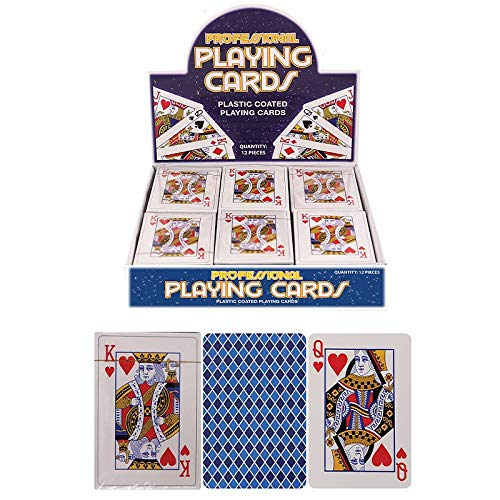 The Home Fusion Company Pack of Plastic Coated Playing Cards - Classic Style Deck of Cards