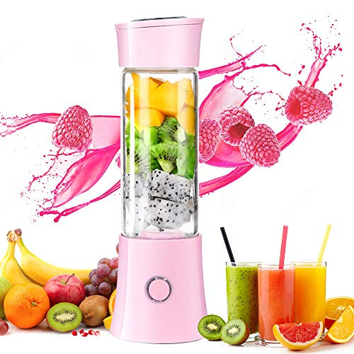 Taillansin【2019 Newest】Portable Blender, Multi-functional Travel Electric Juice Cup with USB Rechargeable Small Blender for Shakes and Smoothies, Stronger and Faster with Stainless Steel 6-Blades(FDA BPA free) (The Best E Juice 2019)