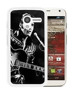 Fashionable Custom Designed Cover Case For Motorola Moto X With Elvis Presley White Phone Case