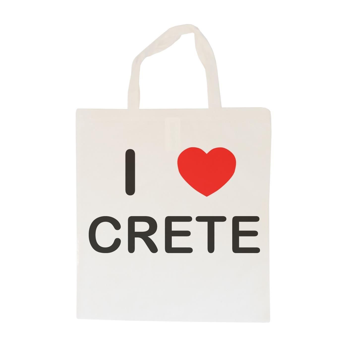 I Love Crete Cotton Tote Bag