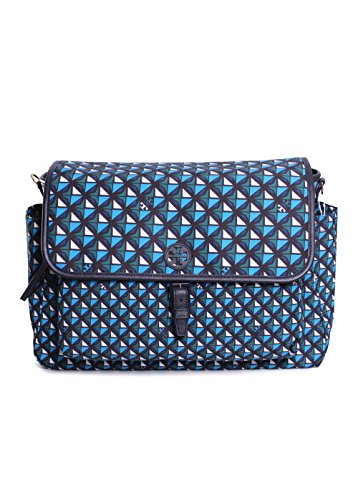 Tory Burch Scout Nylon Printed Messenger Baby Bag in Tory Navy - Burch Baby Tory
