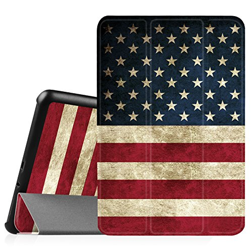Fintie Samsung Galaxy Tab A 8.0 (2015) Slim Case, Ultra Lightweight Standing Cover Auto Sleep/Wake Compatible Galaxy Tab A 8.0 SM-T350/P350 2015 (NOT Fit 2017/2018 Version), US Flag