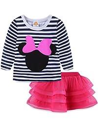 eb48b6bcbd13c Toddler Girls  Cartoon Cute Set T-Shirt and Tutu Skirt Outfit