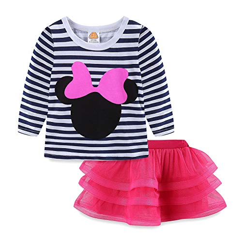 Mud Kingdom Baby Girls Clothes 12-18 Months Pink Outfits Cute Long Sleeve -