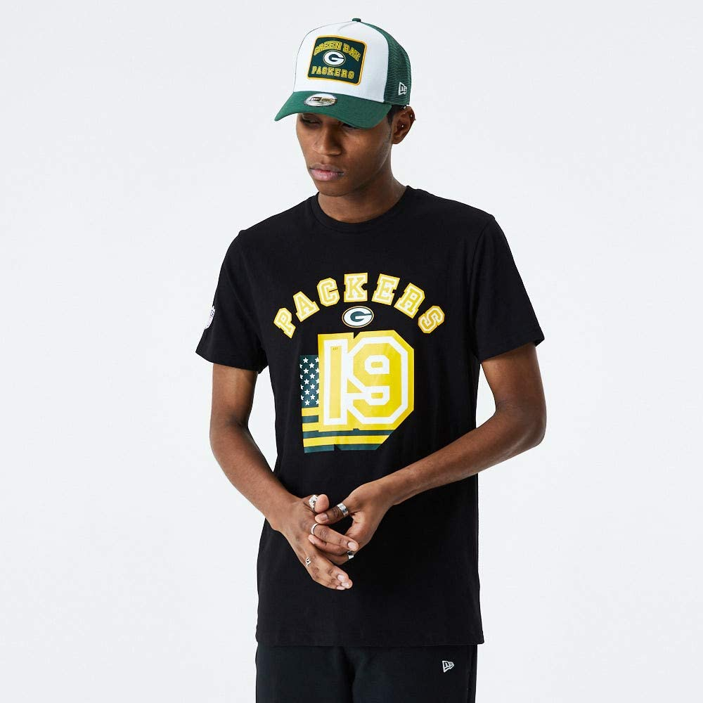 New Era NFL Flag Number tee Grepac Camiseta Green Bay Packers Hombre