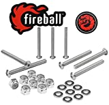 Fireball Dragon Stainless Steel Skateboard Hardware Set (Button Allen, 2.0'')